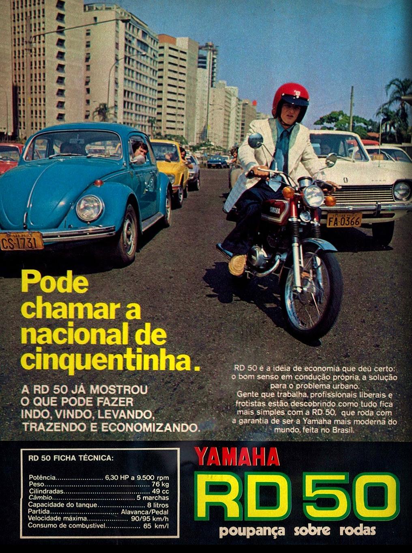 Propaganda da primeira motocicleta fabricada no Brasil
