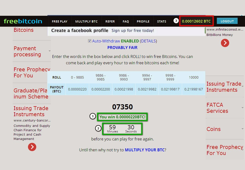এবার আয় করুন ফ্রি বিটকয়েন প্রতি ঘণ্টায়[1 BITCOIN = $819.36!!!]