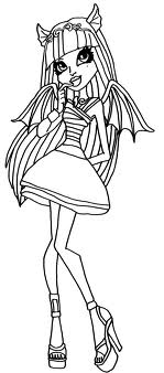 monster high coloring pages jinafire long gloom | Monster High: Coloriage