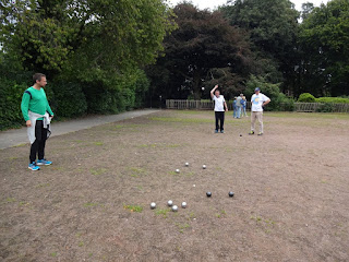 Playing Petanque in Stockport