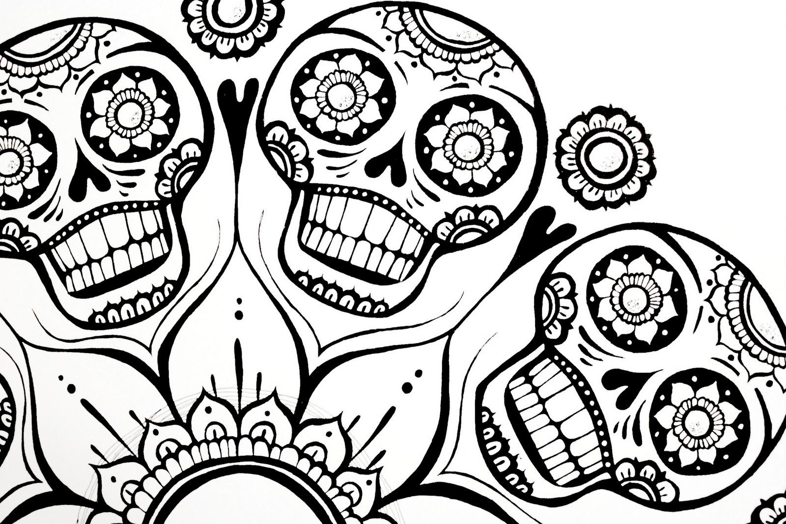 ispywithmycraftyeyes sugar skull flower finished. Black Bedroom Furniture Sets. Home Design Ideas
