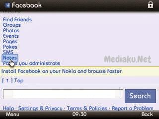 Melihat Catatan Di Facebook Lewat HP