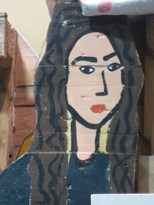Portrait auf Pappe