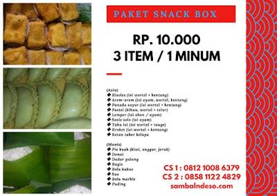 harga  aneka snack Tangerang