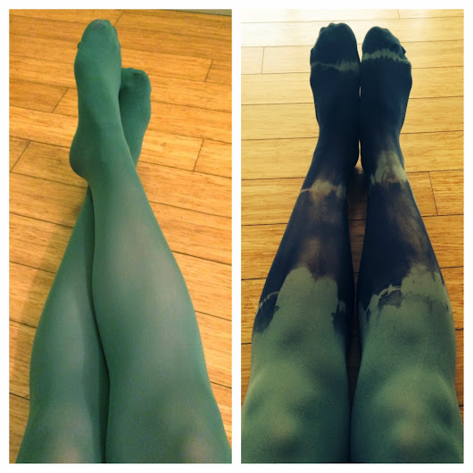 DIY Dyed Tights