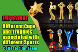 Cups and Trophies associated with different Games