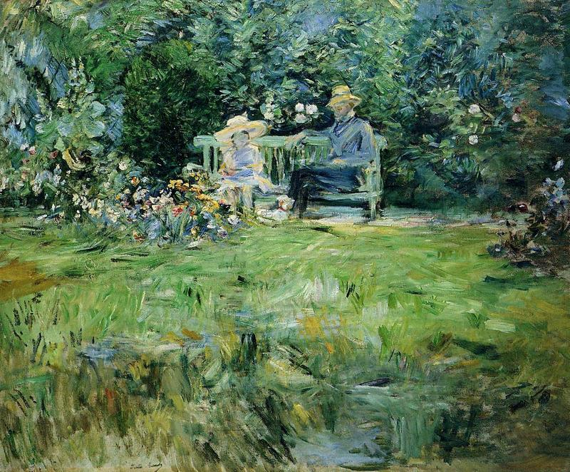 The Lesson in the Garden. Berthe Morisot · 1886