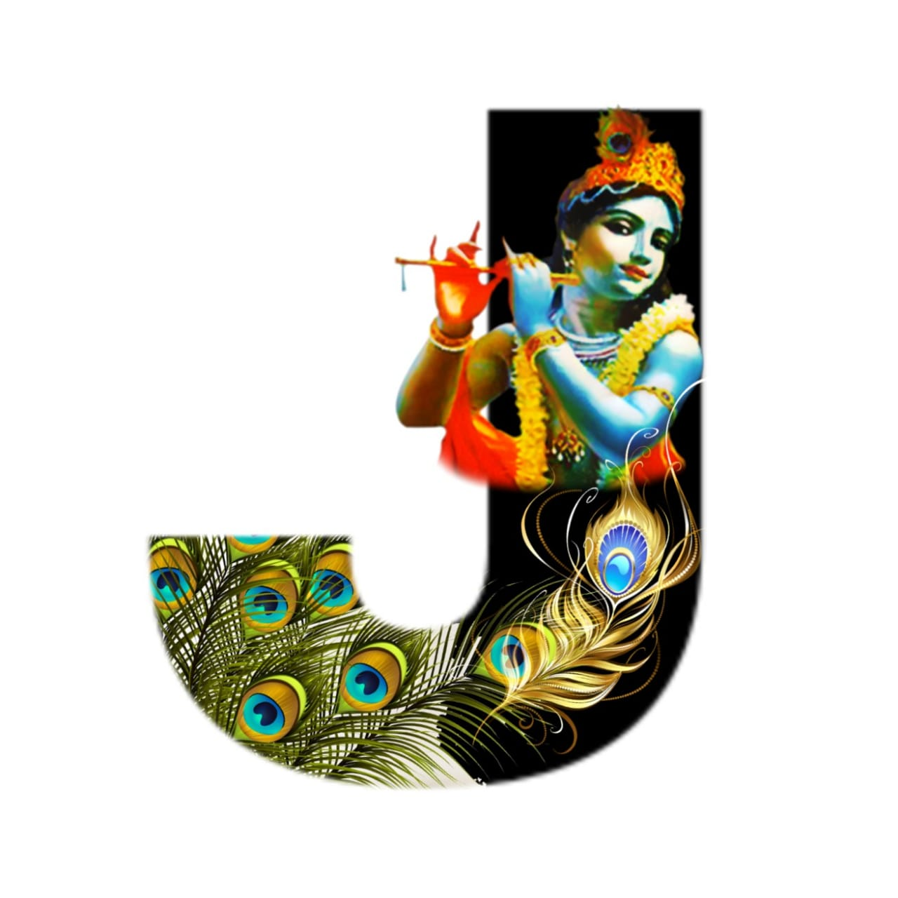 shree krishna alphabet j images