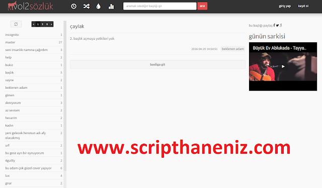 PHP Sözlük Scripti