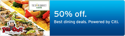 Citibank 50% off at Pig Out and The Stock Market Cafe