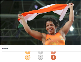 Sakshi Malik Bronze Medal at Rio Olympics 2016