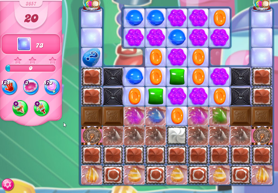 Candy Crush Saga level 3657