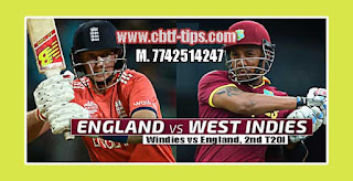 Match Prediction Tips by Experts WI vs ENG 2nd T20