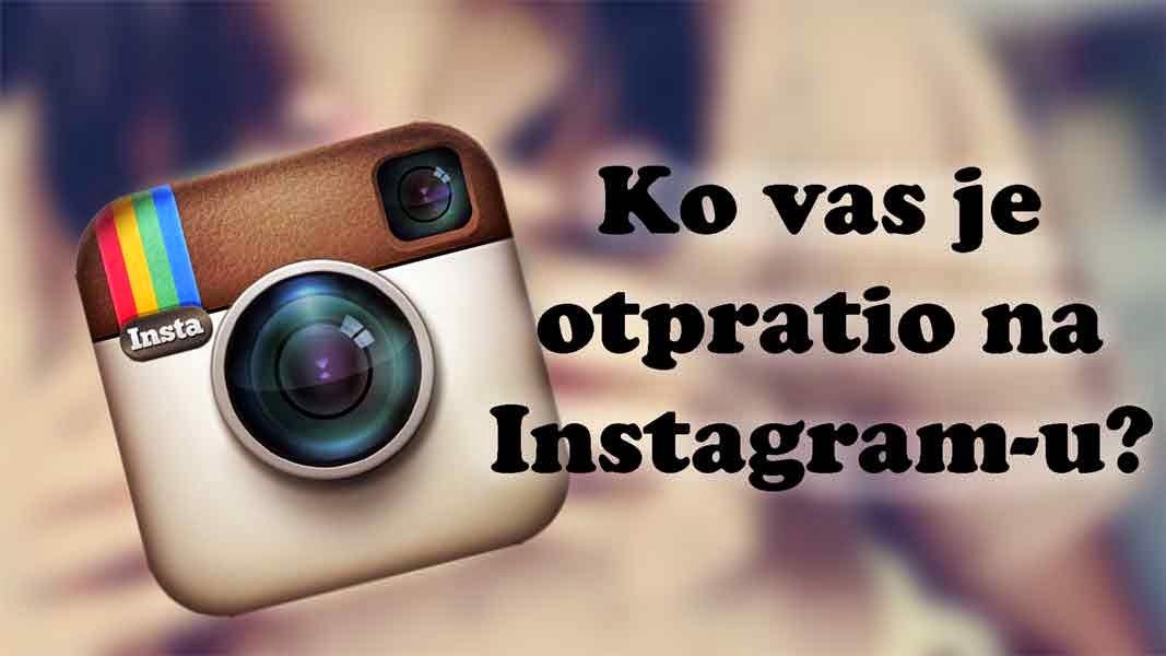 Instagram wallpaper photo: Ko vas je otpratio na instagramu?