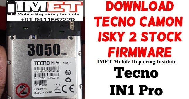 Tecno Camon ISky 2 Stock Firmware, Driver, Flash Tool – Unlock