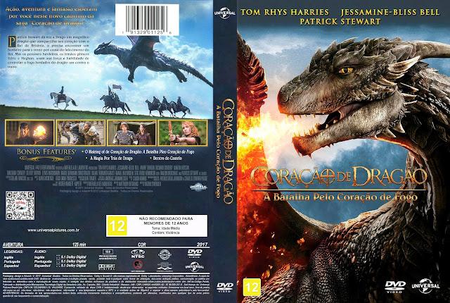 Capa DVD Coração de Dragão: A Batalha pelo Coração de Fogo [Custom]