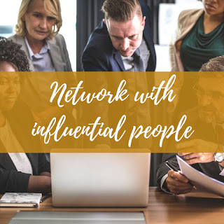 Network with influential people