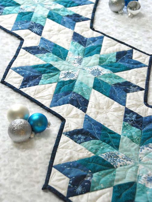 Snowflake Table Runner - Quilt Tutorial + Diagram