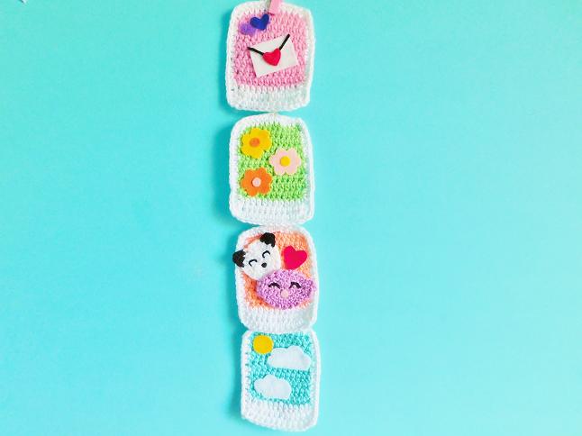 Polaroid Garaland Crochet Pattern