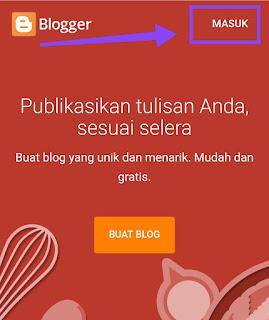 Cara membuat blog dengan Hp  android cepat dan benar