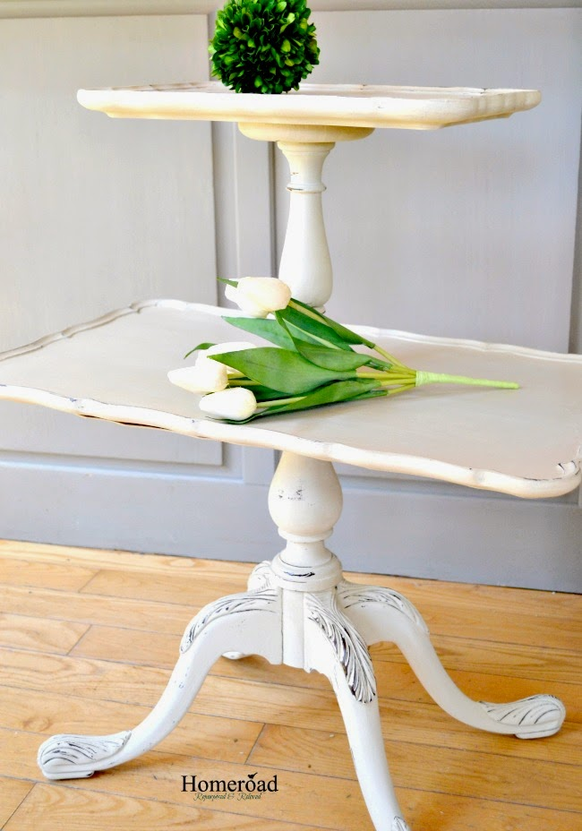 Tiered wooden table tray