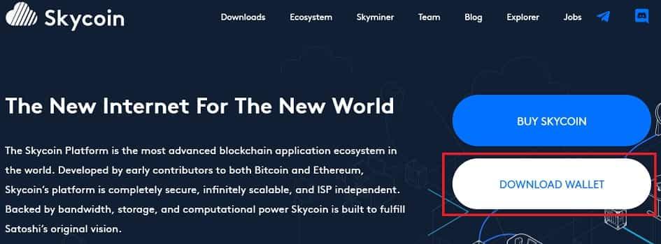 Cómo Guardar en Wallet SkyCoin (SKY) Tutorial con Imágenes