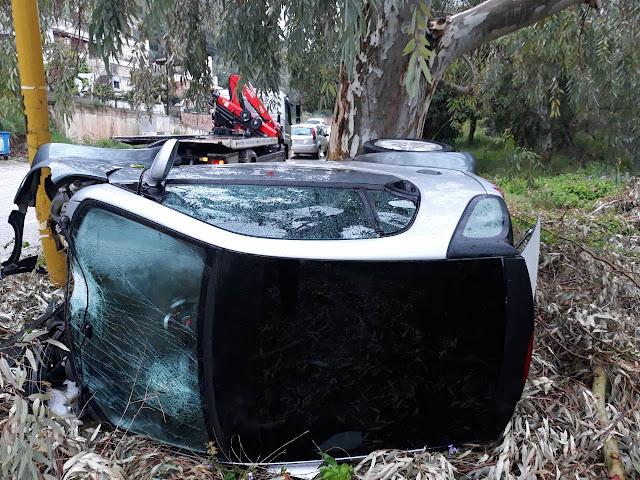 Τροχαίο ατύχημα το πρωί στον Παραπόταμο Ηγουμενίτσας (+ΦΩΤΟ)