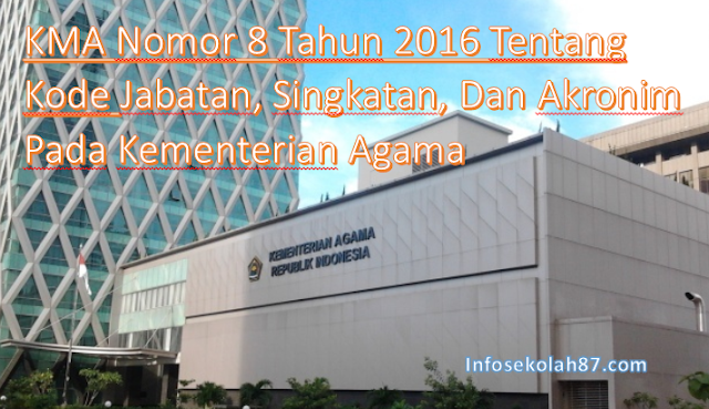 Penerbitan PMA Nomor 4 Tahun 2016 dan KMA Nomor 8 Tahun 2016 serta 9 Tahun 2016 Tentang Tata Persuratan Dinas dilingkungan Kementerian Agama
