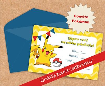 convite pokemon gratis