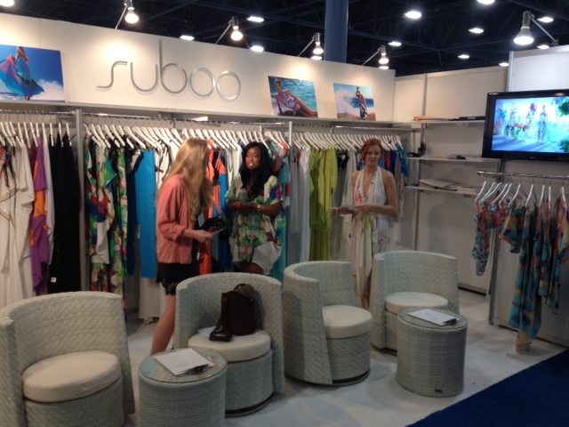 9b4a6c2f94e The Joey Showroom booth for Suboo looks chic in Miami for Swimwear Week.
