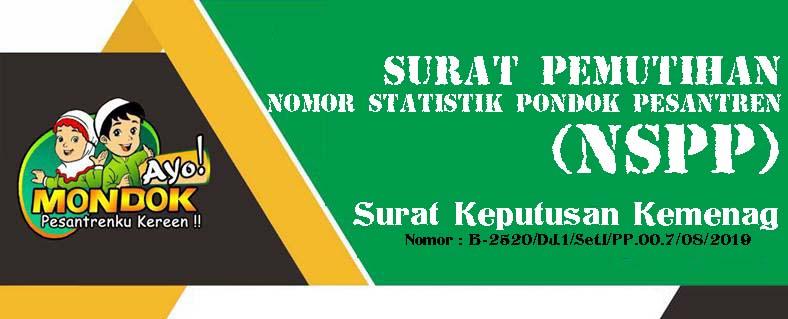 Pemutihan Nomor Statik Pondok Pesantren (NSPP) Tahun 2019