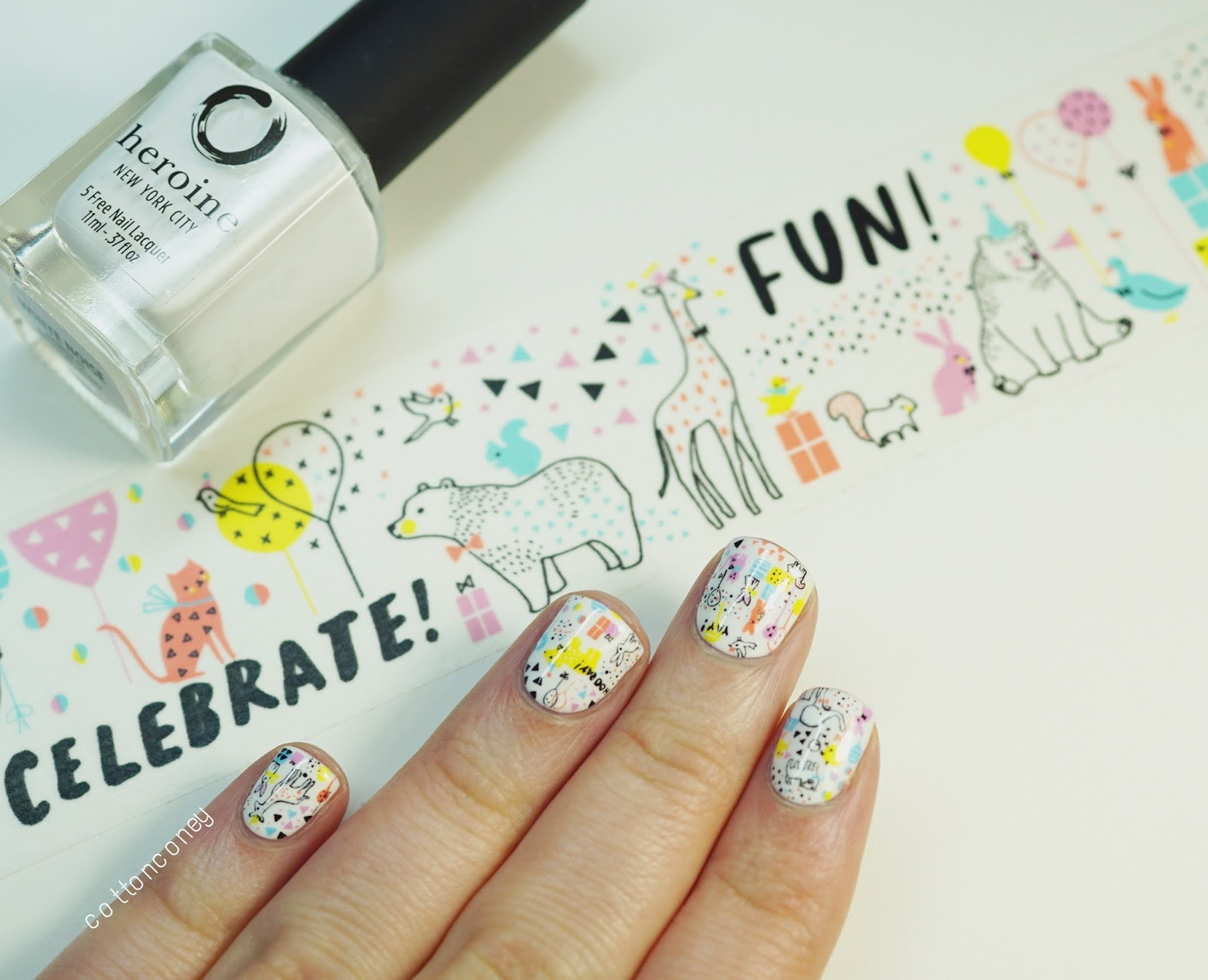 Cottonconey Birthday Nail Art Aimez Le Style Washi Tape Inspired