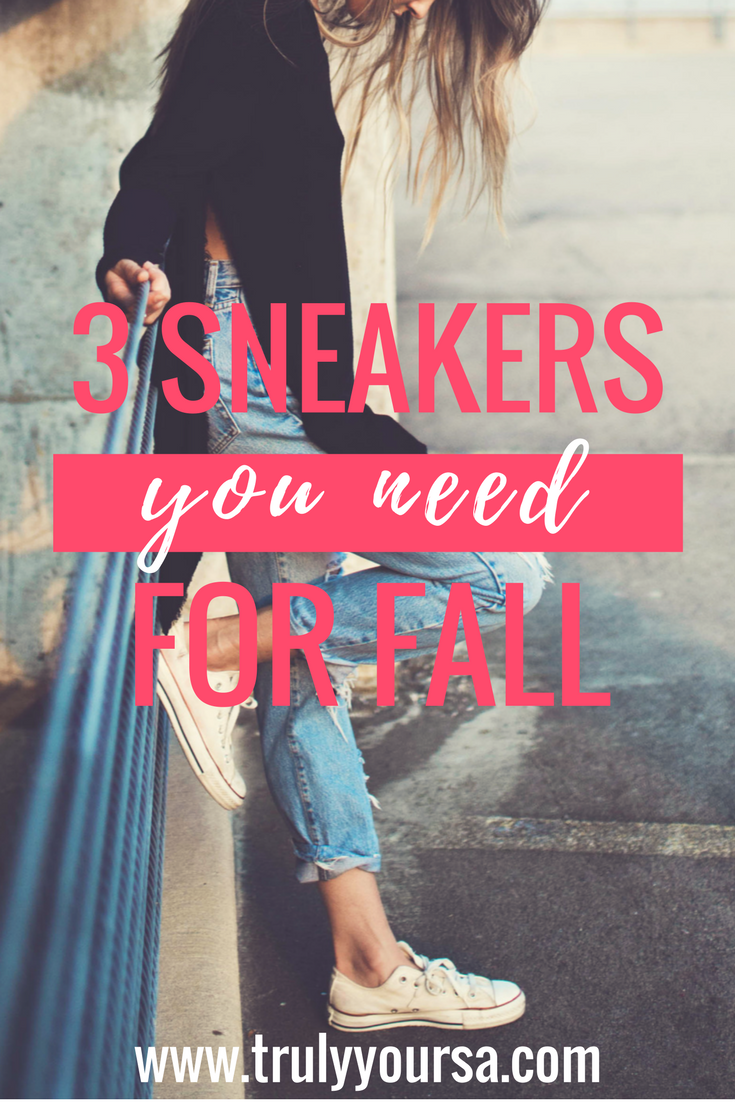 Fall is right around the corner and it feels like everyone is anxious for pumpkin spice everything and leaves on the ground. I, on the other hand, am most excited for the fall fashion, especially footwear. Boots and booties are the usually the footwear staples for this time of year, but I'm encouraging you to step outside of the box this year. Sneakers are my go-to during this time of year mainly because they are super comfy. I have a wider foot so most boots and booties end up being too narrow and uncomfortable if worn for a long period of time. There are tons of trendy sneakers available as stores are shifting to their autumnal wares. I'm giving you 3 great styles that you need to get you through the upcoming months. As an added bonus most of these are under $100 so you can look your best and keep a little extra money in your pocket for those pumpkin spice lattes!