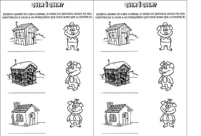 Os Tres Porquinhos 60 Atividades Contos De Fadas Historias