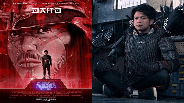 Win Morisaki sebagai Daito dalam film Ready Player One