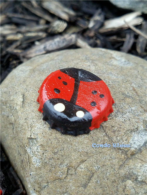 bottle cap lady bug craft ideas