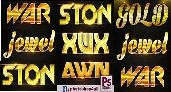 ستايل فوتوشوب ذهبي   Golden Photoshop style   إستايلات ذهبية رائعة ومجسمة للفوتوشوب تأثير ذهبى متميز للنصوص والعناوين مصممين الدعاية والاعلان