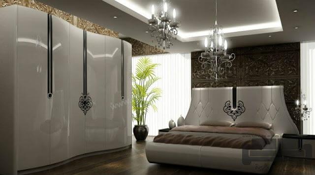 صور غرف نوم مودرن، غرفة نوم مودرن ابيض كاملة 2016