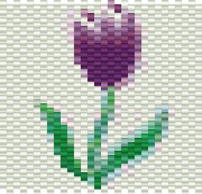 Free peyote pattern tulip
