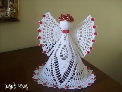 wzor aniola szydelkiem