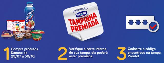 """Promoção """"Danone tampinha Premiada"""""""