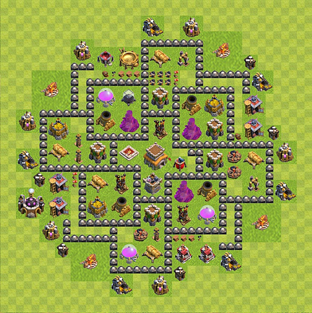 Design Base COC Town Hall 8 Terkuat ( Trophy Base )