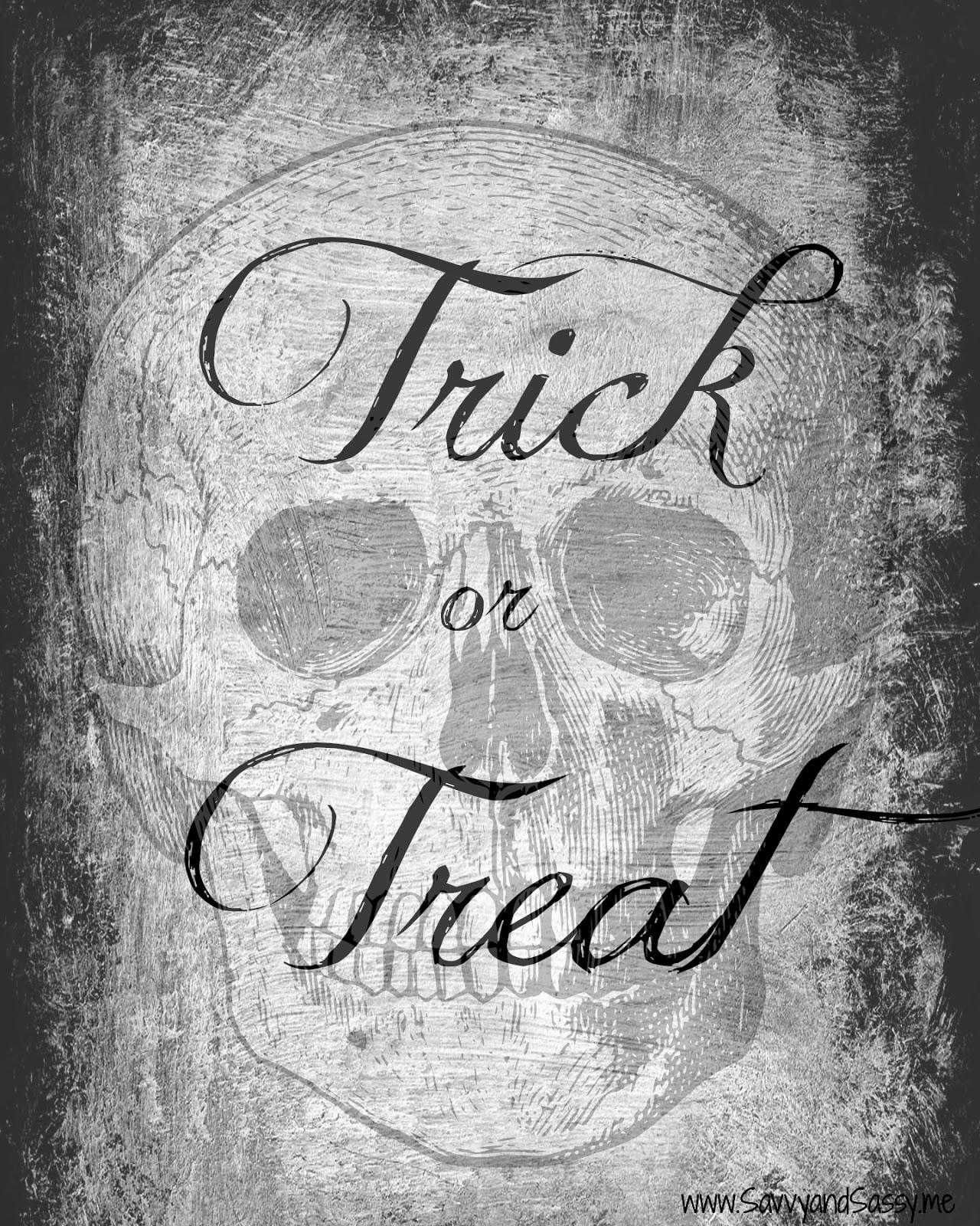 Savvy and Sassy: Free Halloween Scary Skull Trick or Treat ...