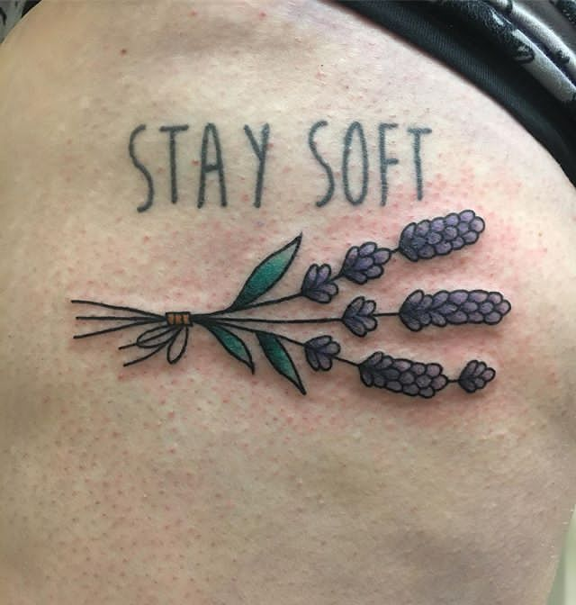 Lavender Sprig Tattoo for shoulder