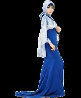 Dress Biru Silver 7b-002
