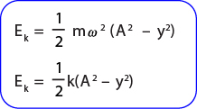 Rumus Energi kinetik pada gerak harmonik sederhana