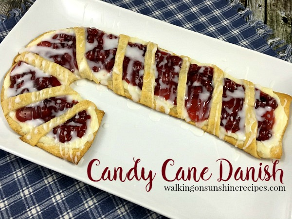 Candy Cane Cream Cheese Christmas Danish from Walking on Sunshine Recipes.