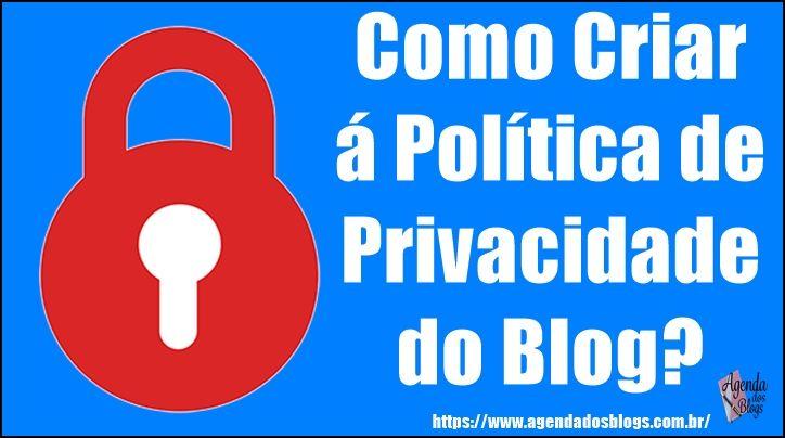 Aprenda como criar uma página de política  de privacidade.
