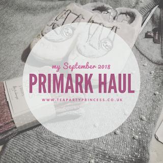 September 2018 Primark Haul
