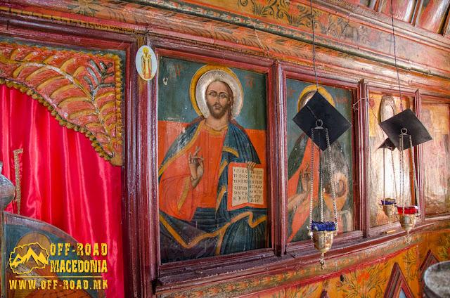 Fresco painting - St. Petka church in Skochivir village, Municipality of Novaci